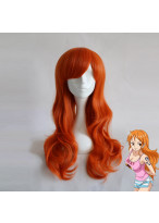 One Piece NaMi Long Wavy Orange Cosplay Wig