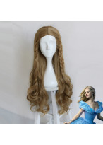 Princess Cinderella Long Curly Light Brown Cosplay Wig