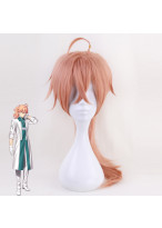Fate Grand Order Romani Archaman Long Curly Pink Orange Cospaly Wig