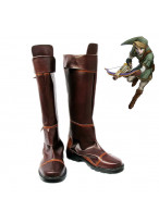 The Legend of Zelda Link Brown Shoes Cosplay Boots Custom Made