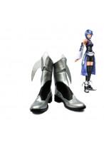 Kingdom Hearts Birth by Sleep Aqua Cosplay Shoes Silver Boots