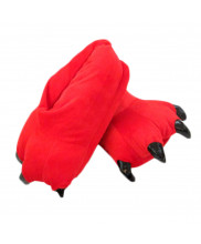Unisex Animal Red cosplay Kigurumi fleece slippers shoes