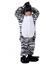 Kids Zebra Pajamas Animal Onesies Costume Kigurumi