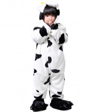 Kids Milk Cow Pajamas Animal Onesies Costume Kigurumi
