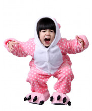 Kids HK Cat Pajamas Animal Onesies Costume Kigurumi