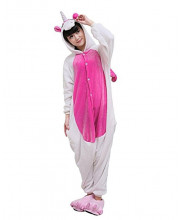 Adult Pink Unicorn Pajamas Animal Onesies Costume Kigurumi