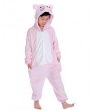 Kids Pink Pig Pajamas Animal Onesies Costume Kigurumi