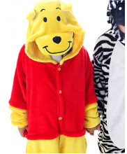 Kids Winnie the Pooh Pajamas Animal Onesies Costume Kigurumi