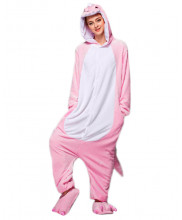 Adult Pink Dinosaur Pajamas Animal Onesies Costume Kigurumi