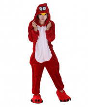 Adult Red Bird Cosplay Pajamas Animal Onesies Costume Kigurumi