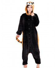 Adult Black Racoon Pajamas Animal Onesies Costume Kigurumi