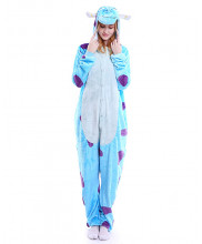 Adult Blue Sulley Monster Pajamas Animal Onesies Costume Kigurumi