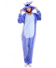 Adult Blue Stitch Pajamas Animal Onesies Costume Kigurumi