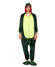 Adult Green Dinosaur Pajamas Animal Onesies Costume Kigurumi