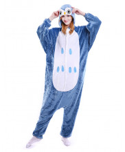 Adult Steelblue Owl Pajamas Animal Onesies Costume Kigurumi