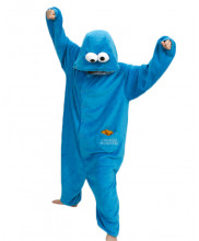 Adult Sesame Street COOKIE MONSTER Pajamas Animal Onesies Costume Kigurumi