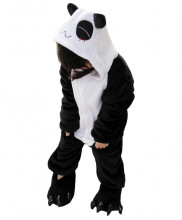 Kids Panda Pajamas Animal Onesies Costume Kigurumi