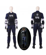 Resident Evil 2 Remake Biohazard Re:2 Leon Scott Kennedy Cosplay Costume Handmade
