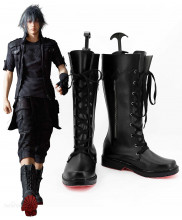 Final Fantasy XV Noctis Lucis Caelum Black Cosplay Boots Customized Size