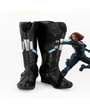Captain America Civil War Black Widow Natasha Romanoff Cosplay Shoes Boots