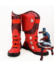 The Avengers Captain America Steve Rogers Cosplay Boot Shoes