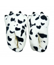 Unisex Animal Cow Print cosplay Kigurumi fleece slippers shoes