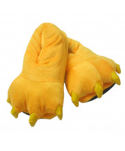 Unisex Animal Yellow cosplay Kigurumi fleece slippers shoes