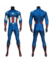 Captain America Costume Cosplay Jumpsuit Steve Rogers The Avengers 3D Printed