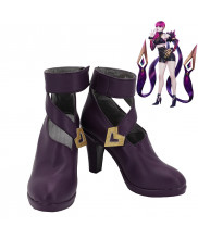LOL League of Legends KDA Evelynn Cosplay Shoes High Heels Women Boots Purple Version
