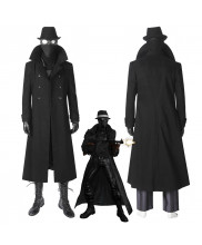 Spider-Man Into the Spider-Verse Spider-Man Noir Cosplay Costume Coat Outfit