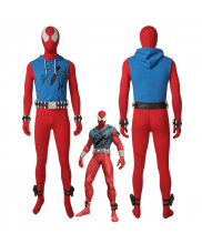 Scarlet Spider Ben Reily Spider Man Cosplay Costume Jumpsuit Outfit