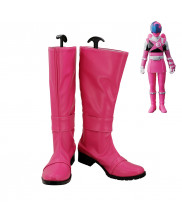 Uchu Sentai Kyuranger Raptor 283 Type 283 Washi Pink Cosplay Shoes Women Boots