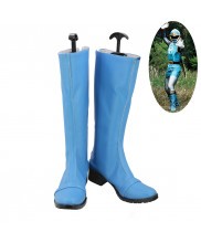 Ninpuu Sentai Hurricaneger Nanami Nono Water Ninja Hurricane Blue Cosplay Shoes Boots