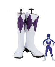 Mighty Morphin Power Rangers Purple Ranger Cosplay Shoes Boots