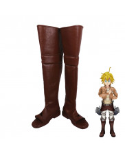 Attack on Titan x The Seven Deadly Sins Meliodas Cosplay Shoes Men Boots
