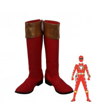 Bakuryu Sentai Abaranger Ryouga Hakua Aba Red Cosplay Shoes Men Boots