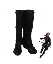 Avengers Endgame Black Widow Natalia Romanova Cosplay Shoes Women Boots