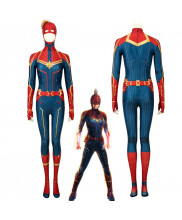 Captain Marvel Carol Danvers Jumpsuit Cosplay Costume 3D Printed