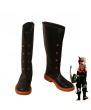 My Hero Academia Bakugou Katsuki Cosplay Shoes Black Boots