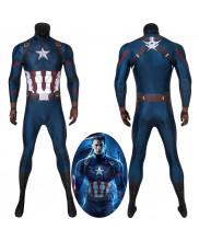 Avengers Endgame Steve Rogers Captain America Jumpsuit Cosplay Costume 3D Printed