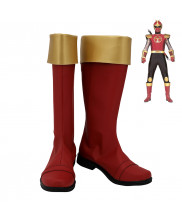 Ninpuu Sentai Hurricaneger Horned Ninja Kabuto Raiger Cosplay Shoes Men Boots