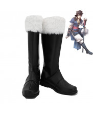 Fire Emblem Awakening Lon'qu Cosplay Shoes Men Boots