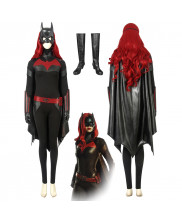 Batwoman Kate Kane Jumpsuit Cosplay Costume with Cloak
