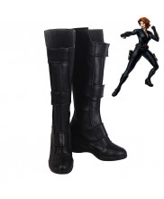 Avengers Endgame Black Widow Natalia Romanova Cosplay Shoes Women Boots Version 2