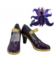 LOL League of Legends Ahri Skin Cosplay Shoes Women Boots Version 4