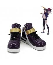 League of Legends LOL K/DA Akali Cosplay Shoes Violet Women Boots Version 3