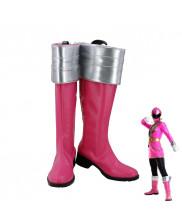 Kaizouku Sentai Gokaiger Ahim de Famille Gokai Pink Cosplay Shoes Women Boots