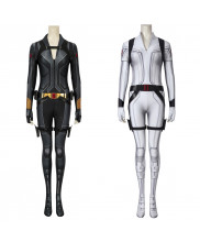 Black Widow Costume Cosplay White Suit Natasha Romanoff 3D Printed Women's Outfit