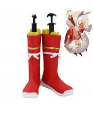 Fate Grand Order FGO Artilla Ultra Altera Etzel Christmas Cosplay Shoes Women Boots