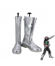 Masked Rider Kamen Rider 1 Takeshi Hongo Cosplay Silver Shoes Men Boots Version 1